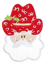 Cowboy Santa Applique