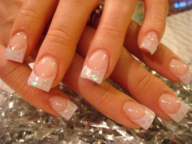 clear acrylic nail design