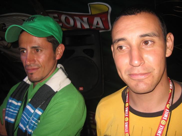RICARDO BERNAL (¨PAUNA) Y ANDRES MARTINEZ (LA VICTORIA)