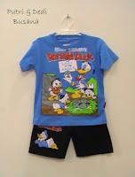 stelan baju kartun motif donald duck