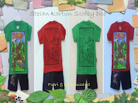 Stelan baju kartun anak motif Scooby Doo