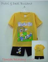 baju kartun motif donald duck