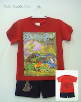 baju kartun motif scooby doo