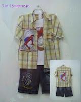 Putri busana, Stelan baju kartun 3 in 1 Spiderman