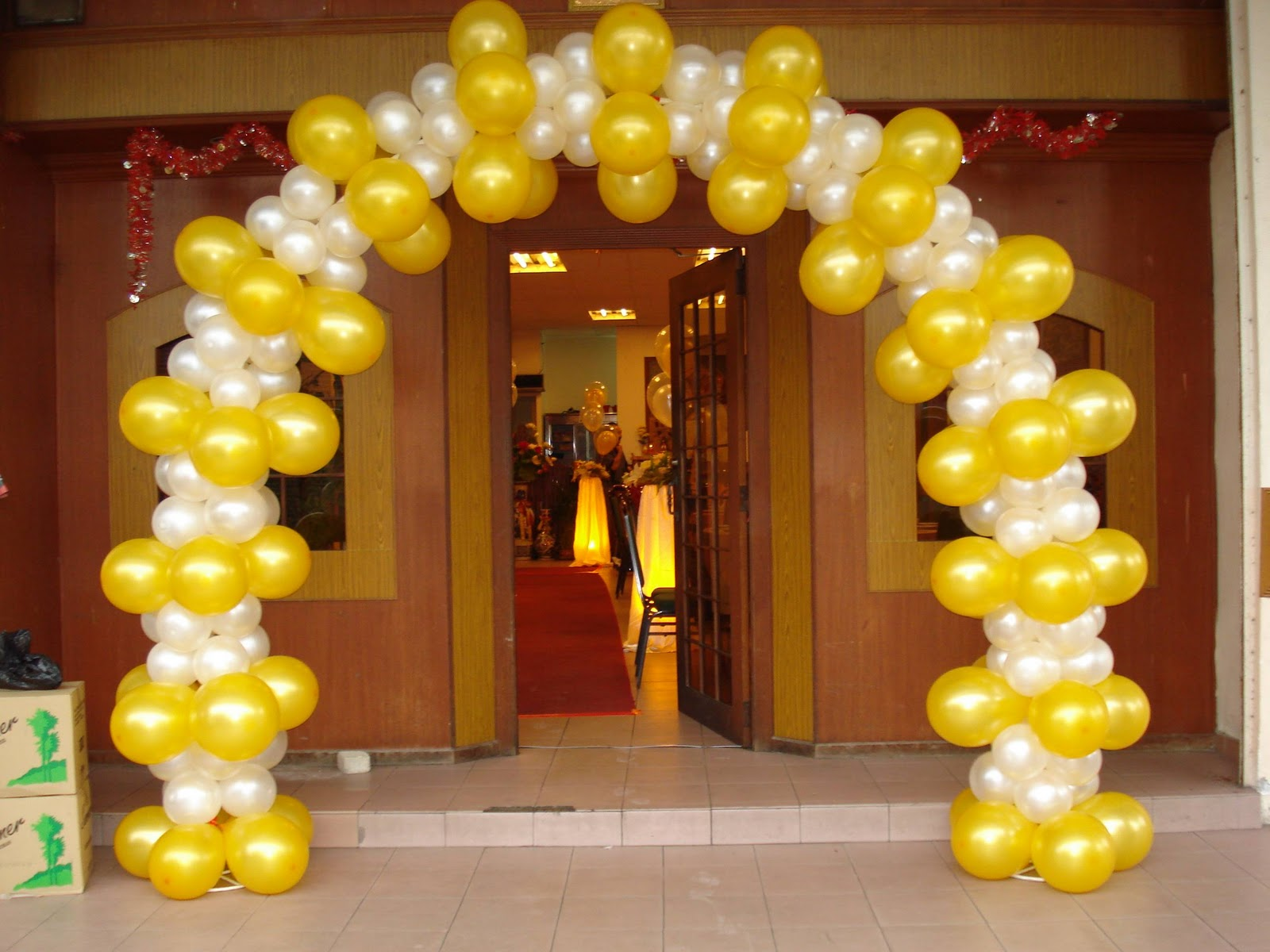 Fly design collection wedding hall decoration for Balloon decoration company