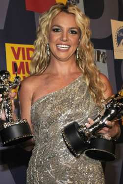 Metallic Beauty Britney Spears