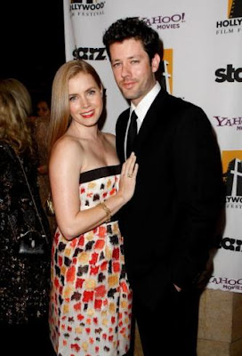 Amy Adams and fiance Darren Le Gallo are expecting their first child