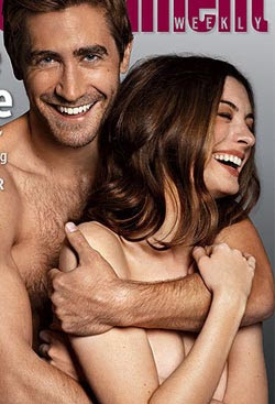 Jake Gyllenhaal and Hathaway go nude for magazine shoot