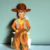 cowboy paper doll