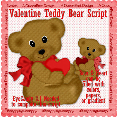 Teddy Bear Valentine Postcards by mousearte