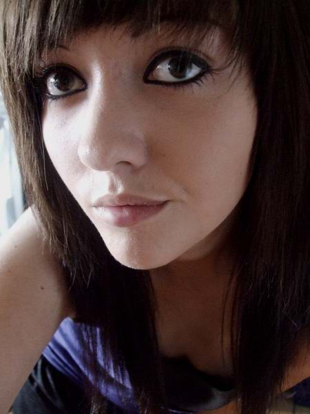 Long Emo Hairstyle with Side Swept Bangs