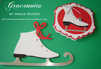 figure skates Christmas tags