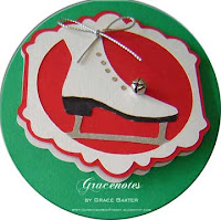figure skate tag/card
