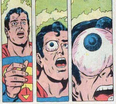 superman, growing eye, eye, supereye, comic, simiopata, rincon