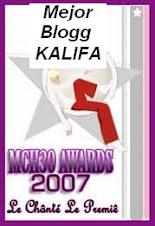 Primó la pasión: fui nominado y elegido el MEJOR BLOGG Kalifa