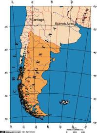 Así se conoce la Patagonia en la mayoría de los mapas ....