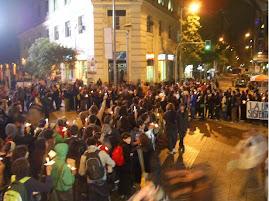 Hicimos un signo + en Santiago Centro, por NO a Pascualama