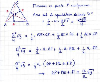 Matematicas Maravillosas: Teorema de Viviani - Demostración