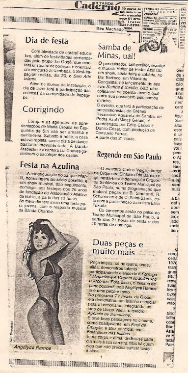 Eu badalada no Jornal A Tarde - Salvador