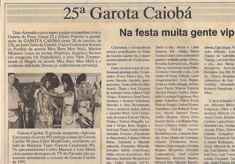 Eu no corpo de jurado da Garota Caiobá - Caiobá / Paraná