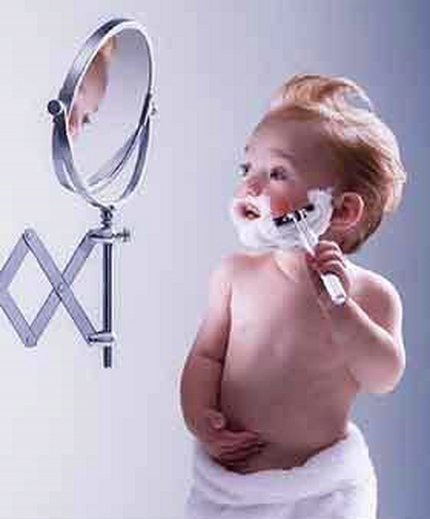baby shaving They Grow up so fast