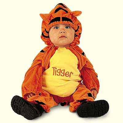 Cute Baby in animal tiger dress