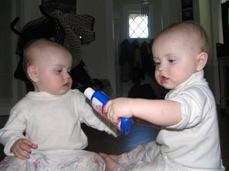 Cute babies drinking photos