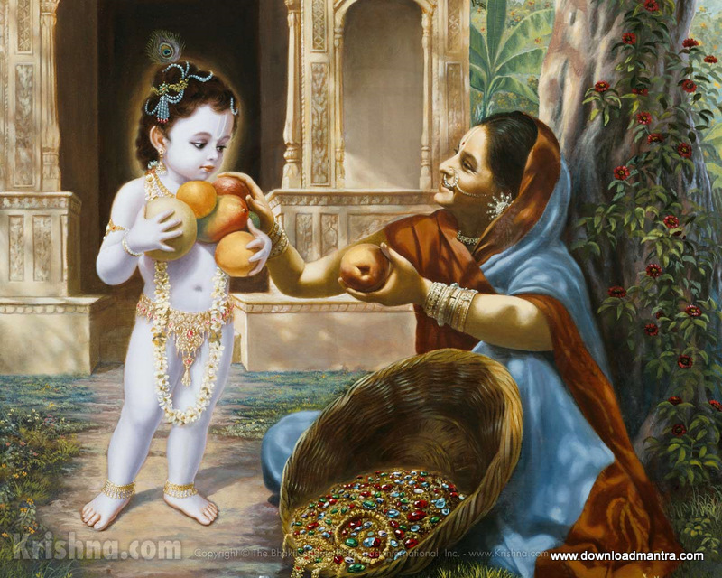 baby bala krishna fruits