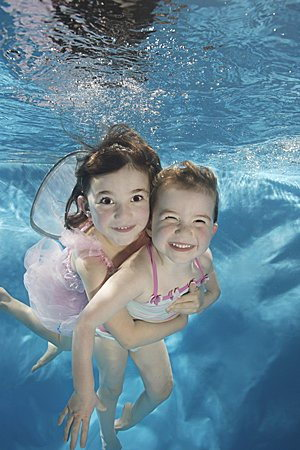 Cute Babies in water swimming love 08