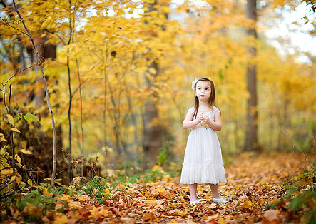 Cute Baby Girl in Nature photo 01
