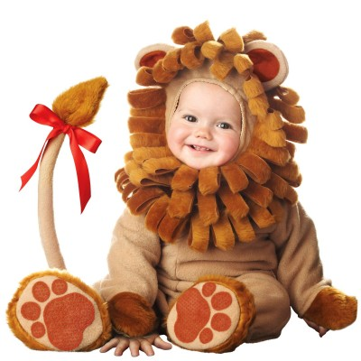 Cute baby like lion dressing picture