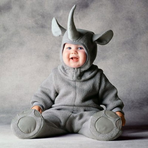 Cute baby like Rhino dressing picture