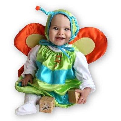 Cute baby boy in butterfly costume