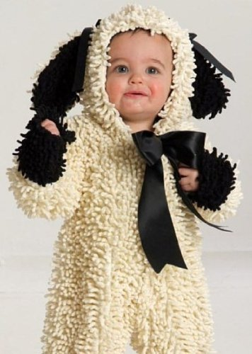 Cute baby boy photo in sheep costume