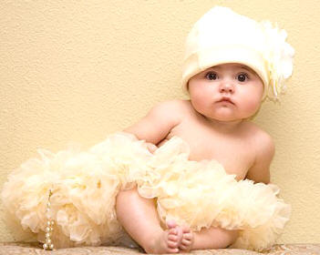 Cute Baby Girl in Angel dress photos