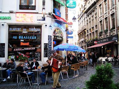 Calle en Bruselas, Bélgica
