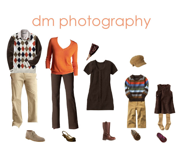 Fall Family Photo Outfit Ideas http://blog.dmphotos.net/2008/09/mondays-must-have-fally-family-clothing.html