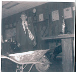 Larry donates his wheelbarrow in the 70's to the VFW in Flint, Michigan