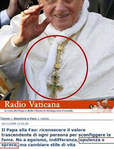 chiesa cattolica papa ricchezza soldi sprechi