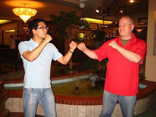 Post-dinner Lat Sau with Sifu Ralph