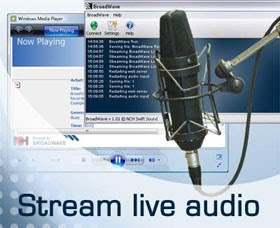 broadwave internet radio streaming audio server software