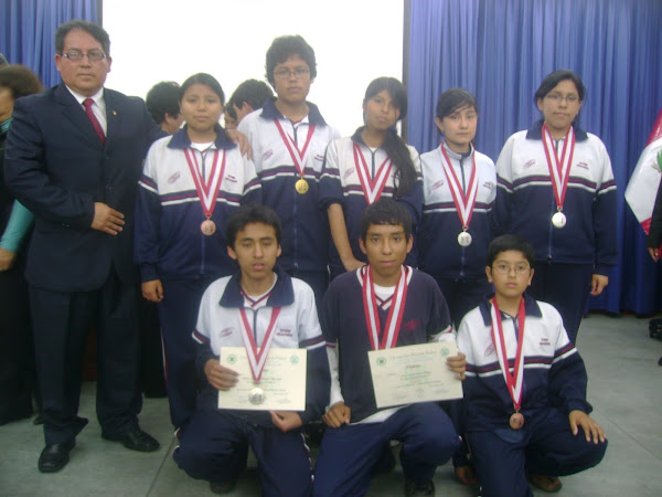 V OLIMPIADA PERUANA DE BIOLOGIA  2010. ¡CAMPEONES NACIONALES! GANAMOS 8 MEDALLAS.
