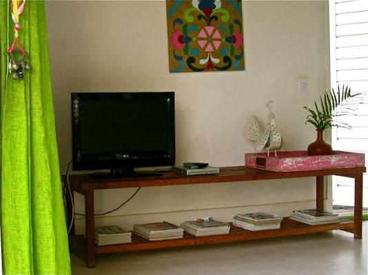 Todos bangalôs são equipados com Tv, Dvd, ar condicionado camas king size deck e ducha externa