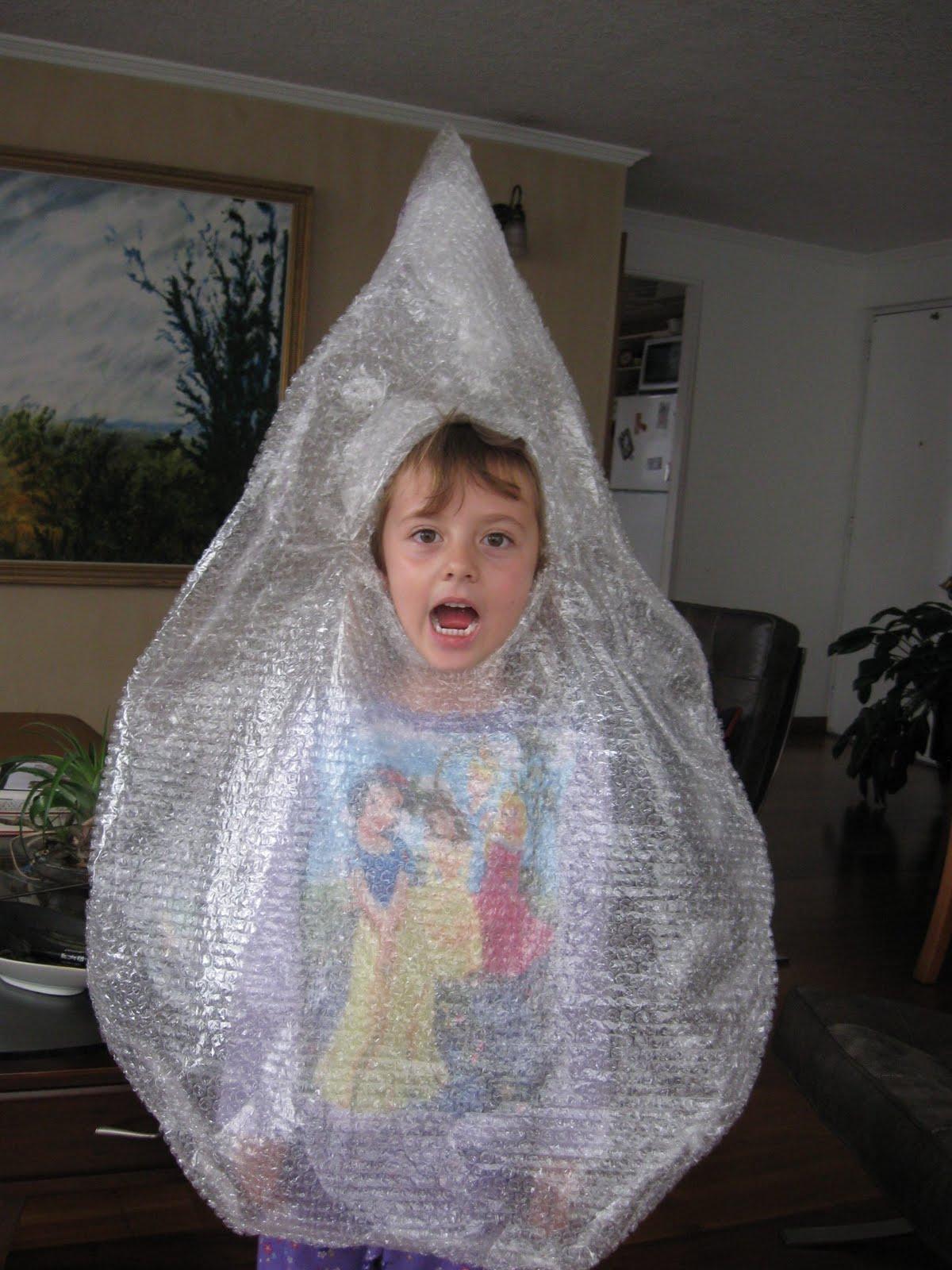 Handy Mom: Disfraz Gota de Agua - Otra opción!!!!!