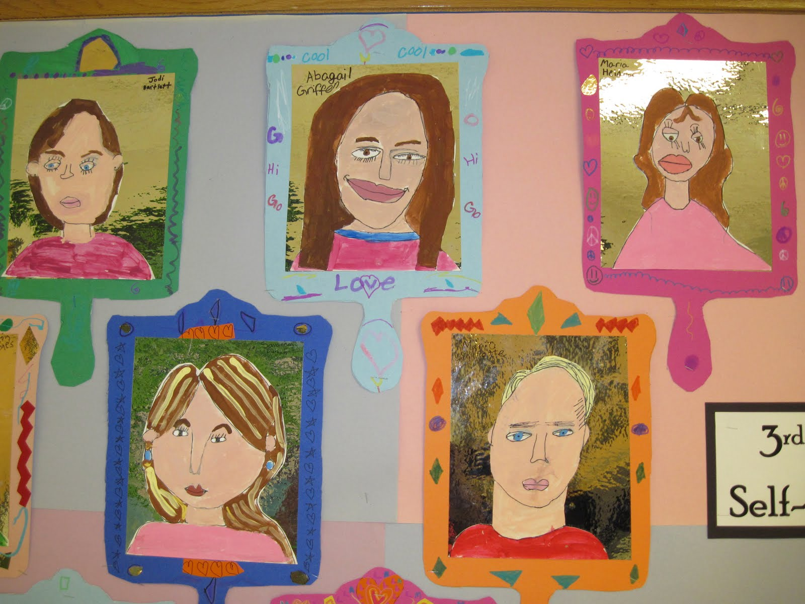 there s a dragon in my art room self portraits by awesome 3rd graders
