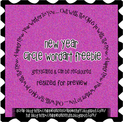 http://hippiedazescrappinstuff.blogspot.com/2009/12/new-year-circle-wordart-freebie.html