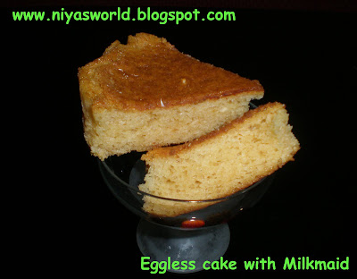 Eggless Milkmaid Cake Recipe