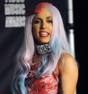 lady gaga meat dress images. Lady Gaga#39;s Meat Dress Okay