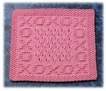 ♥ X's and O's Dishcloth