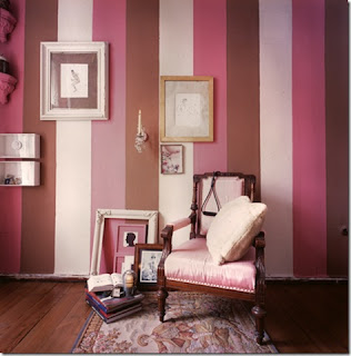 papel parede degrade riscas rosa